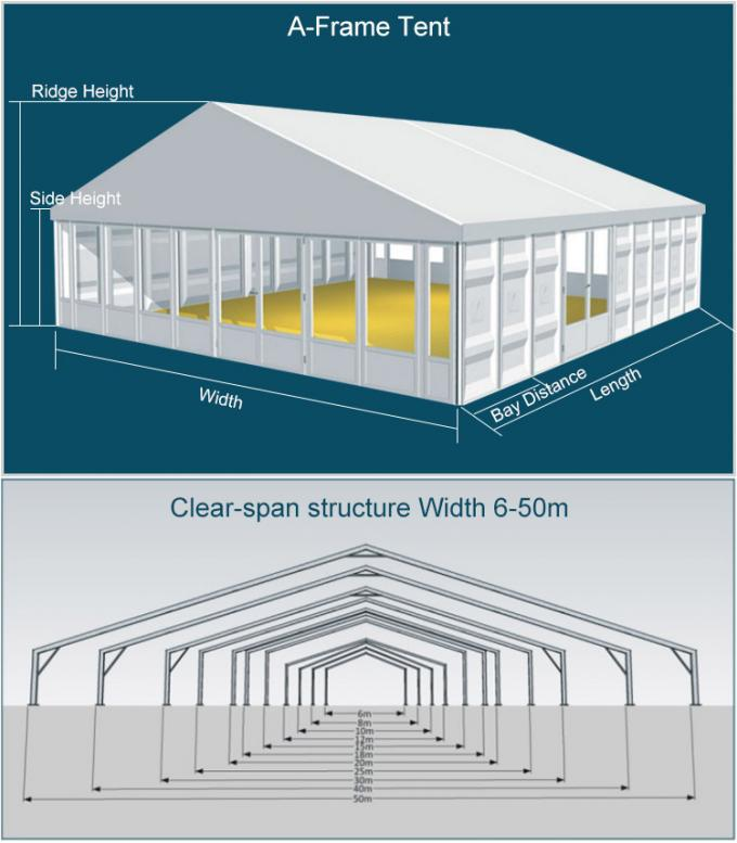 Permanently Installed Glass Wall Tents Clear   For High Grade Events