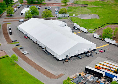 ประเทศจีน Rainproof Fabric Sidewall Strong Event Tent Accommodation With Heavy Duty Material ผู้ผลิต