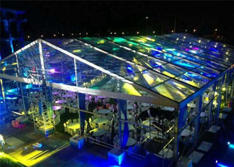 ประเทศจีน Fire / Water Proof Transparent Tent Fabric Clear Event Tents 20m * 50m ผู้ผลิต
