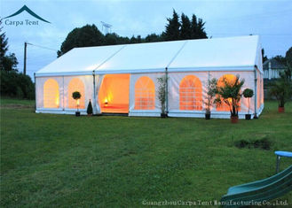 ประเทศจีน White Roof  Durable Event Tents With Linings And Curtains 10m * 15m ผู้ผลิต