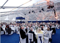 ประเทศจีน Waterproof White PVC Wedding Outdoor Party Tents For 600 People โรงงาน