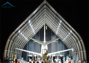 ประเทศจีน Spacious Water Proof  Aircraft Hangar Outdoor Warehouse Canopy Tent  With Aluminium ผู้จัดจำหน่าย