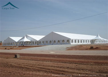 ประเทศจีน Large Rainproof Clear Span Buildings  For Temporary Warehouse , ABS Side Wall ผู้จัดจำหน่าย