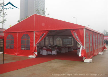 ประเทศจีน Durable Red Event Tents , Chinese Style Wind Load 100km/h Outdoor Tents , Customized Tent ผู้จัดจำหน่าย