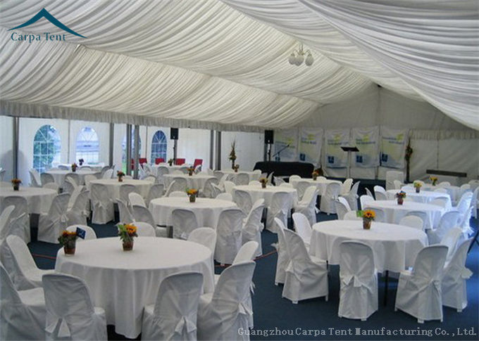 European  Style Aluminium Frame Party Tents With Roof Linings And Curtains